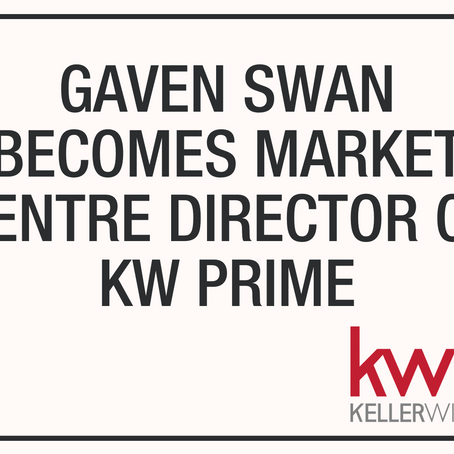 Gaven Swan Becomes Market Centre Director at our Prestige KW Prime Market Centre