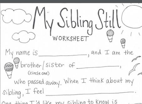 Worksheet for Bereaved Siblings
