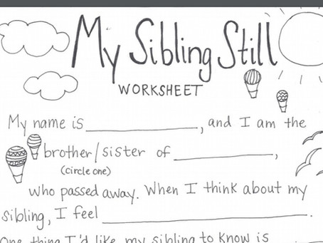 Worksheet for Bereaved Siblings