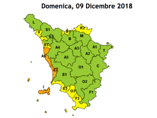 ALLERTA METEO: CODICE GIALLO RISCHIO VENTO ZONA ALTO MUGELLO (R2).