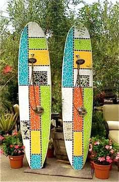 Outdoor surfboard showers for your Washington home and garden.