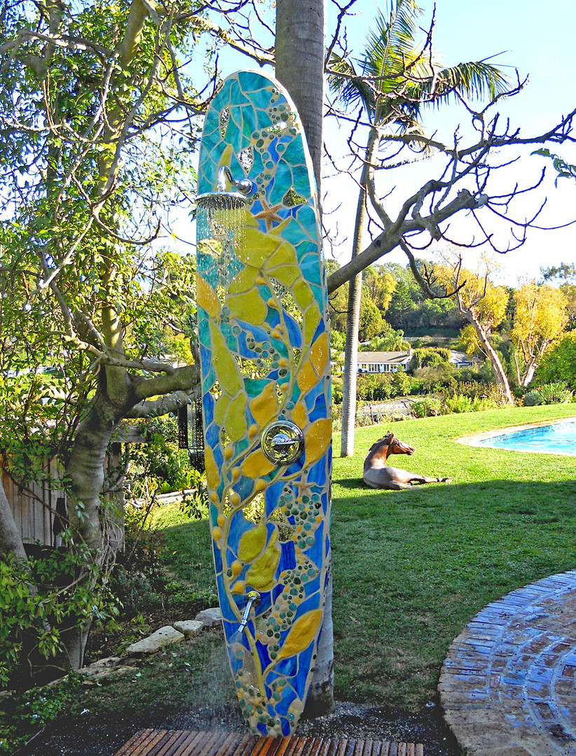 Outdoor surfboard showers for your Washington home and garden. ower-surfboard-shower-washingt