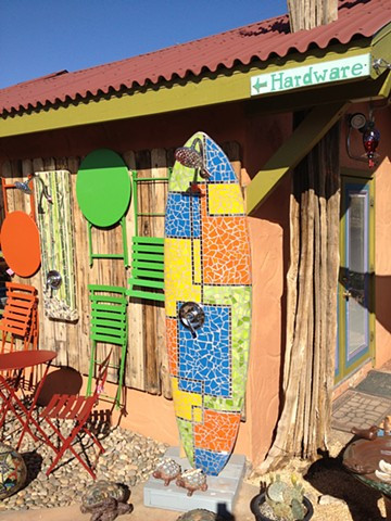 Outdoor surfboard showers for your California home and garden.