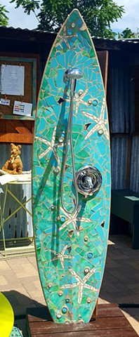 Outdoor surfboard showers for your Oregon home and garden.