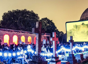 WOW scary stuff… Cooks & Partners caters at the immersive premiere of The Nun at Brompton Cemete