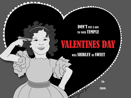 Shirley Temple Valentines Print