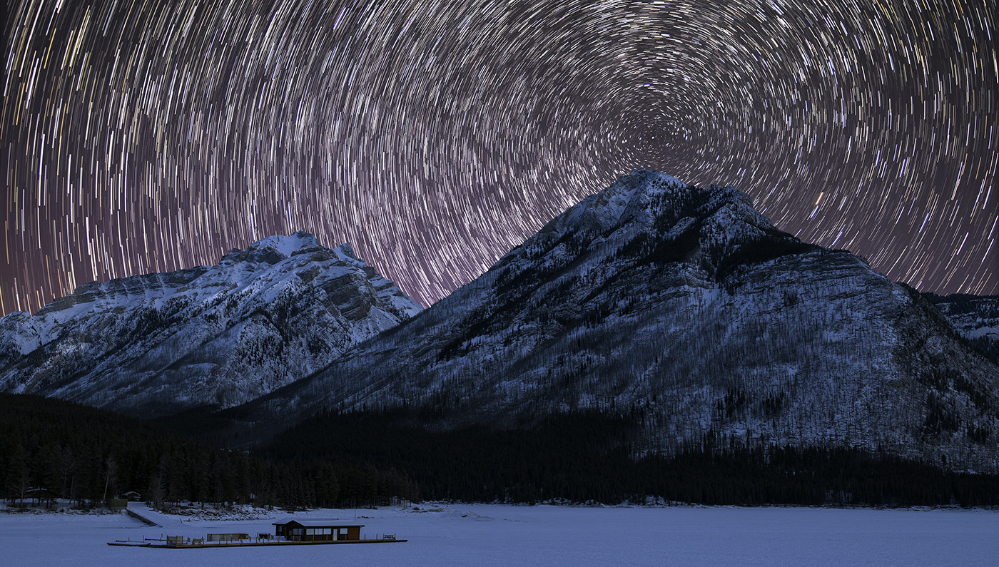 Star Trails in Banff National Park