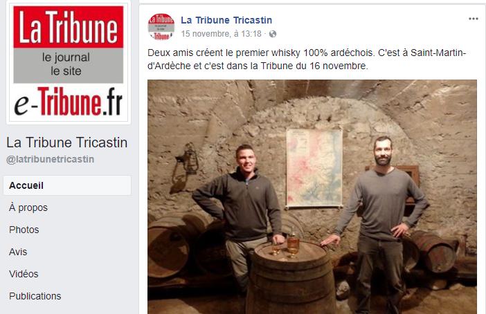 Whisky Tanargue dans La Tribune du Tricastin