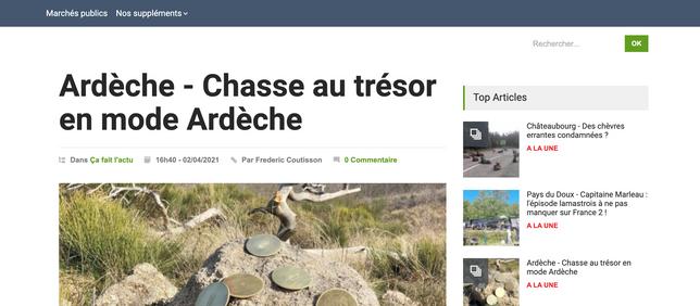 L'Hebdo de l'Ardèche - Chasse au trésor en mode Ardèche