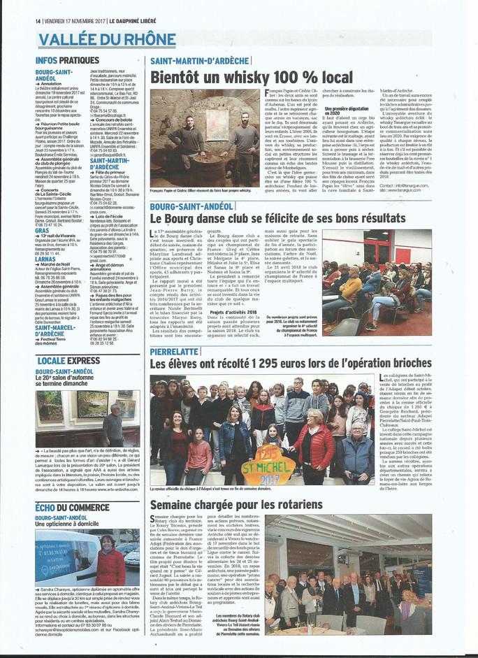 Dauphiné Libéré - 17 novembre 2017