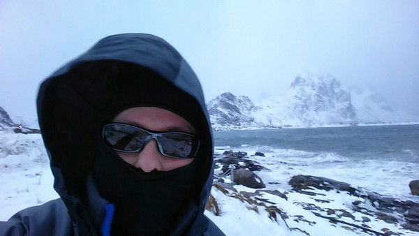 Henrik Lundh on location in the Lofoten Islands, Norway