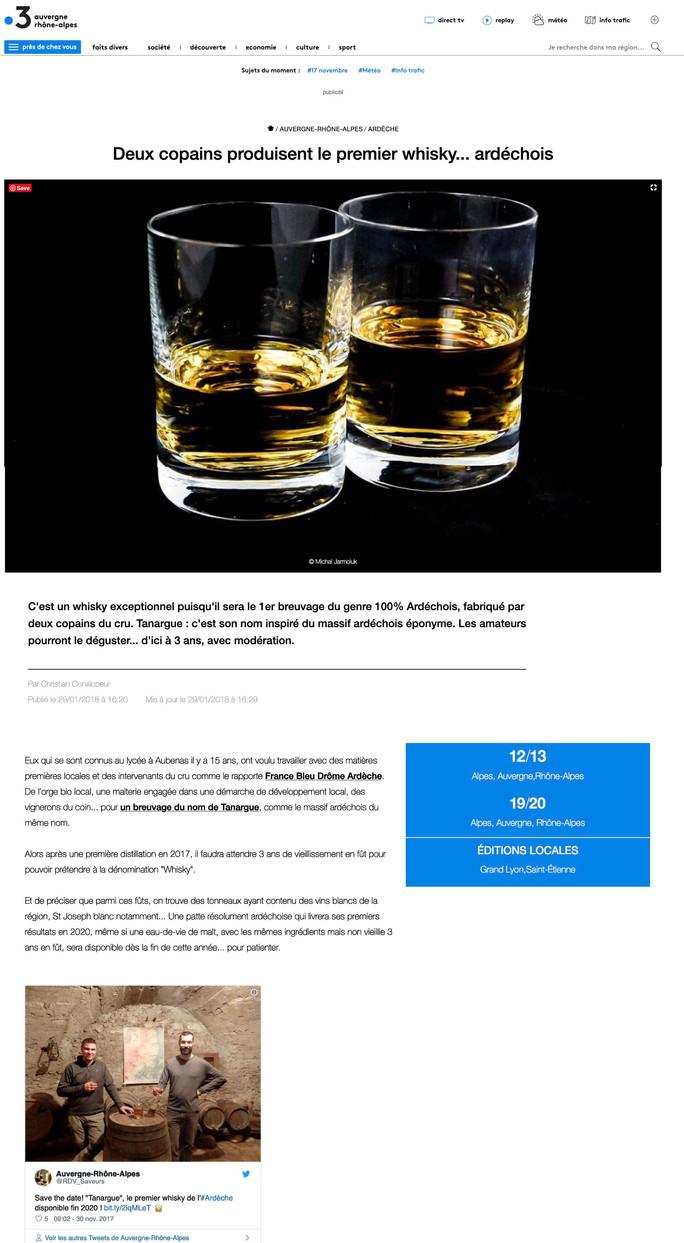 France 3  | Deux copains produisent le premier whisky... ardéchois