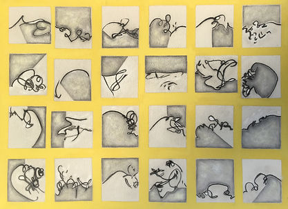 Julie Sumner Sea Scroobles [yellow mono]