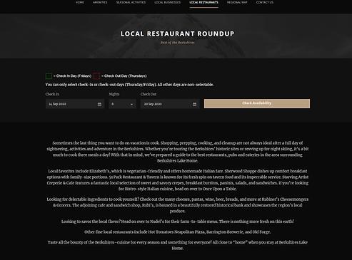 Berkshires rental home local restaurants