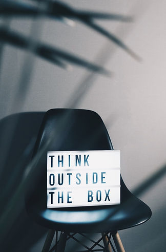Image of my business philosophy:  Think outside the box.
