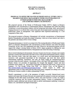 Degree proposal abstract p