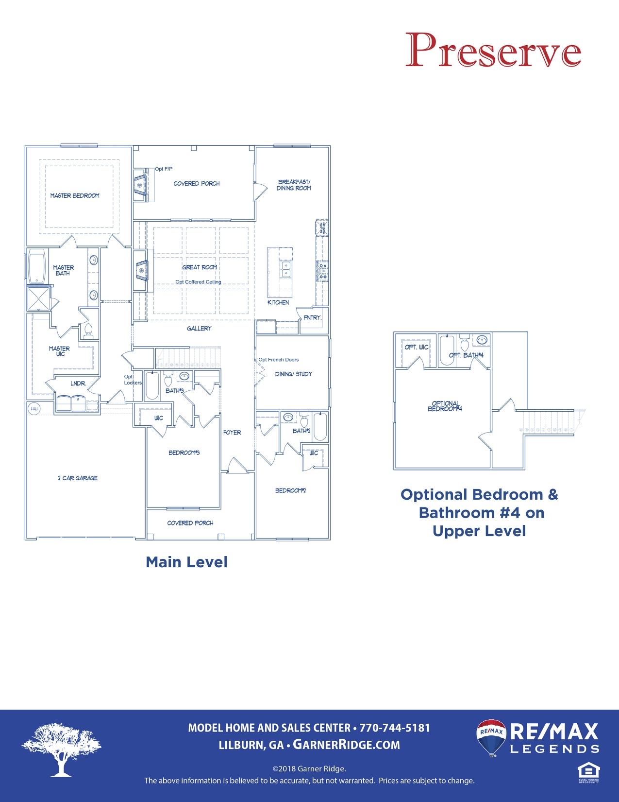 Preserve Floor Plan revB