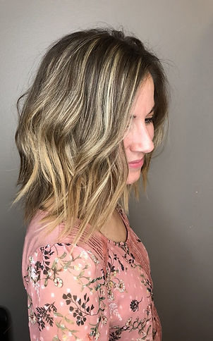 JR Hair by Jenni Reynolds. Medium length bob with textured layers.