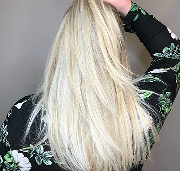 JR Hair by Jenni Reynolds. Long blonde hair with fresh cut.