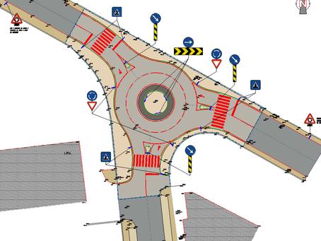 Intersecção Urbana com Recurso a Rotunda - Oliveira de Azeméis