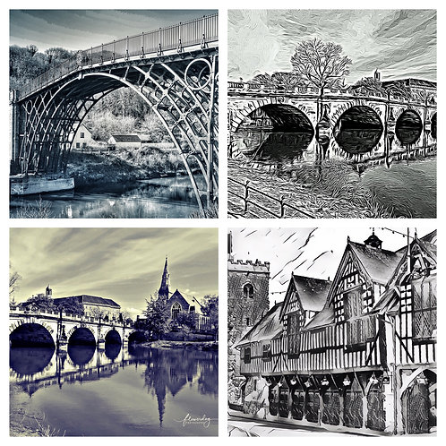 The Shropshire Monochrome Collection - Greeting Cards
