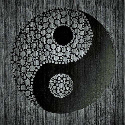 Yin Yang Photoart square mounted print