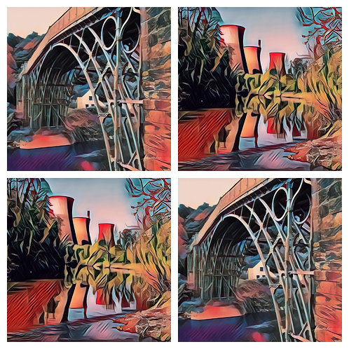 4 x Red Ironbridge and Towers Coasters