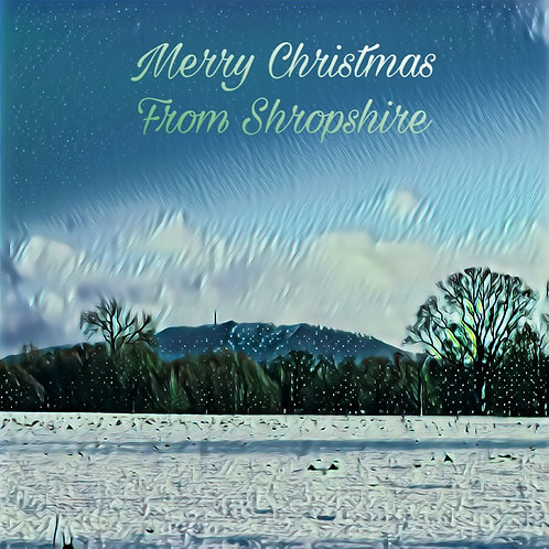 Merry Christmas From Shropshire - Pack of 4