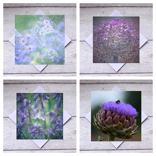 Purple Flowers - Greeting Cards