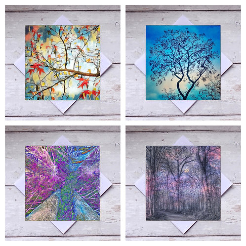 Trees - Mixed 1 Greeting Cards