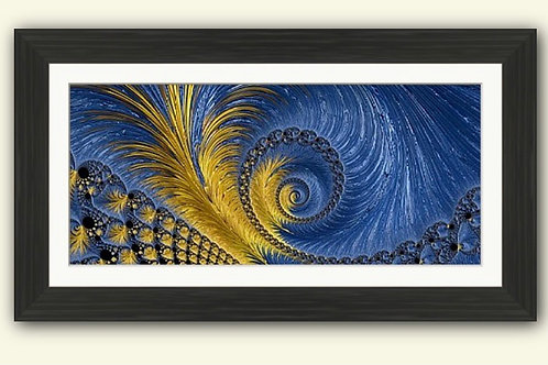 Feathery Swirls Abstract Framed Print
