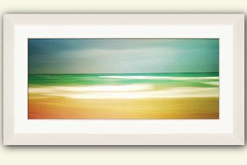 Green & Gold Panorama Framed Print