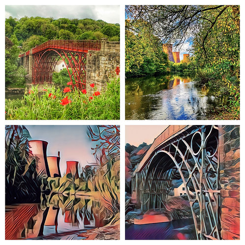 The Ironbridge & Towers Collection - Greeting Cards