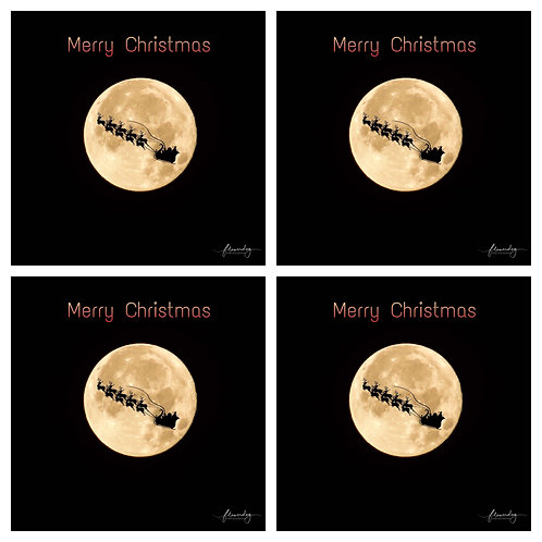 Santa Moon - Pack of 4