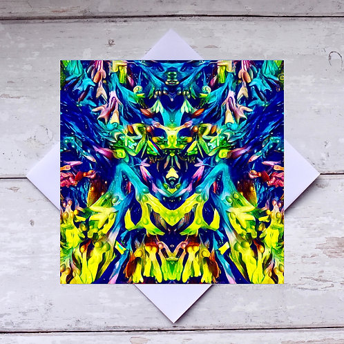'Seaweed Abstract' Greeting Card