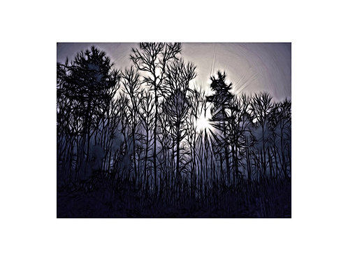 Moody Treescape Photoart Personalised eCard