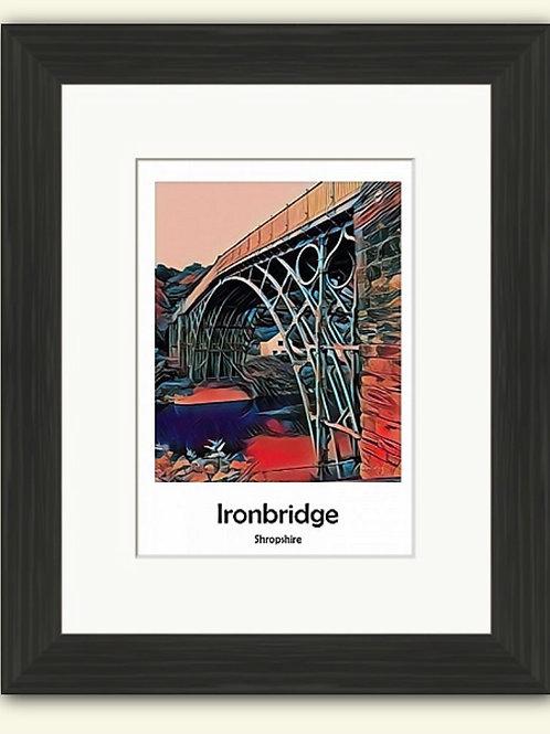 Red Ironbridge Poster Photoart Framed Print