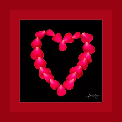 Petal Heart Personalised eCard