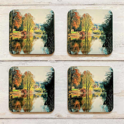 4 x River Severn at Ironbridge Coasters