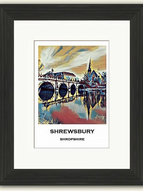 Shrewsbury Poster Photoart Framed Print