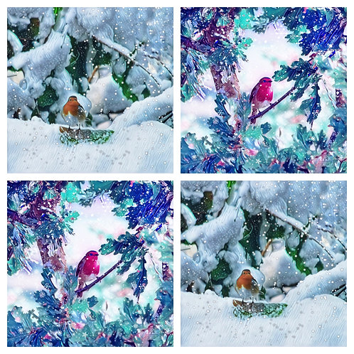Snowy Robins - Pack of 4