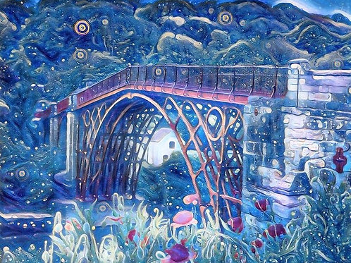 Magical Ironbridge A4 Mounted Print