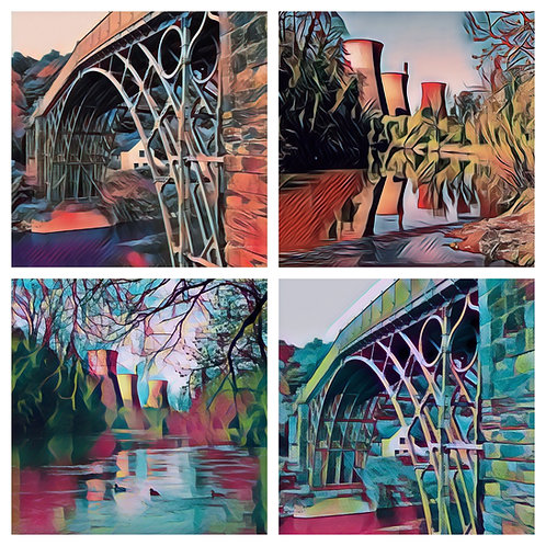 The Photoart Ironbridge & Towers Collection - Greeting Cards