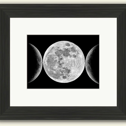 The Moon Trilogy Framed Print