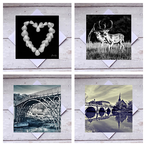 Black & White Mixed Greeting Cards