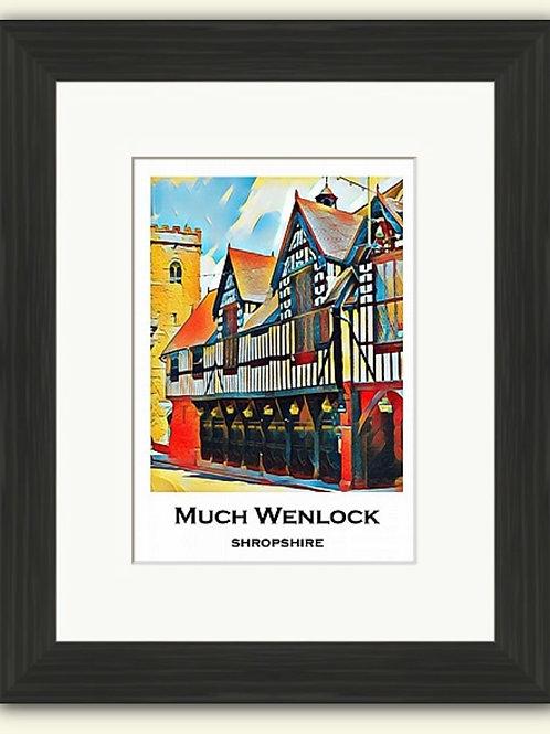 Much Wenlock Poster Photoart Framed Print