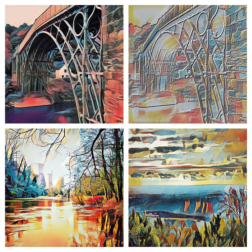 4 x Photoart Ironbridge & Towers Coasters