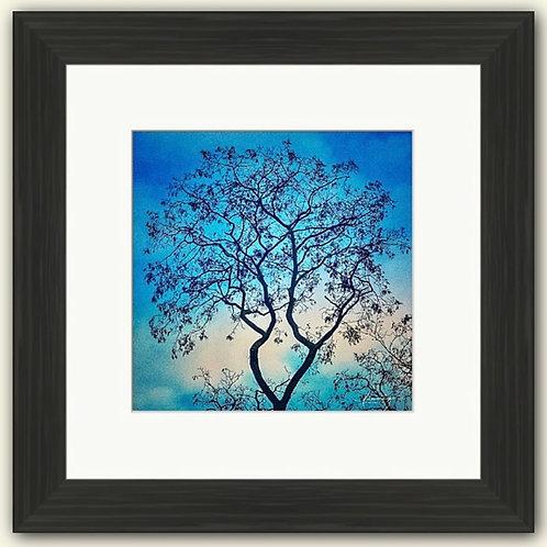 Jade Silhouette Framed Print