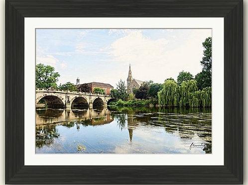 English Bridge Shrewsbury Framed Print