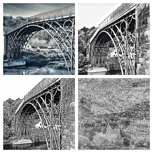 The Monochrome Ironbridge Collection - Greeting Cards